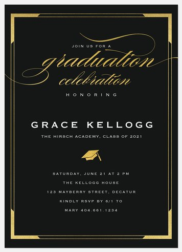 Glam Frame Graduation Cards