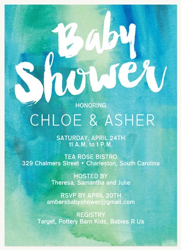 Neutral Baby Shower Invitations Gender Neutral Ba Watercolor Showers