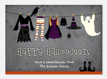 Hung Out to Spook  - halloween photo cards