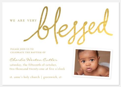 Blessed Baptism Baptism Christening Invitations