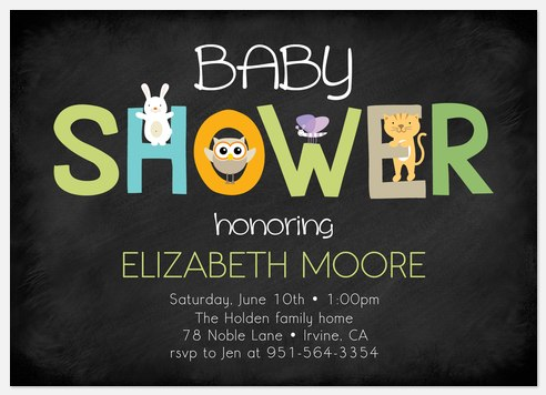 Cute & Cuddly Baby Shower Invitations