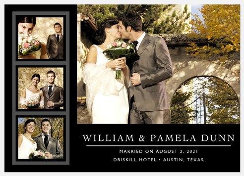 Classic Black Four Wedding Photo Cards Wedding Announcements