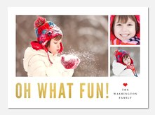 Christmas cards - Oh, What Fun!