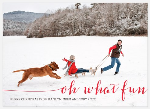 Oh, What a Fun Greeting Holiday Photo Cards