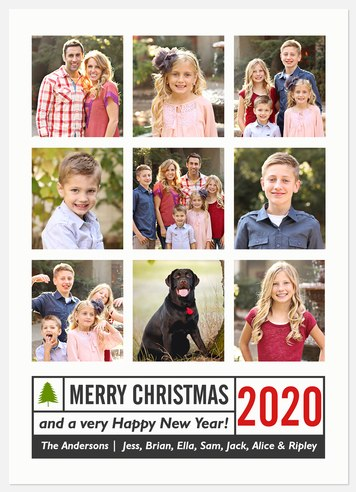 Modern Tidings Holiday Photo Cards