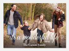 Wonderfully Simple Greeting - holiday photo cards