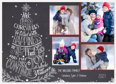 Merry Tree Holiday Photo Cards