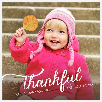 Rustic Thanks Thanksgiving Cards