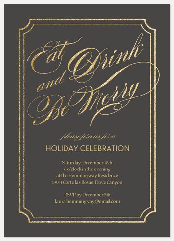 Enchanting Occassion  Holiday Party Invitations