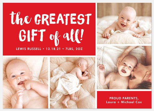 Greatest Gift Holiday Photo Cards
