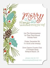 Merry Times  - Holiday Party Invitations