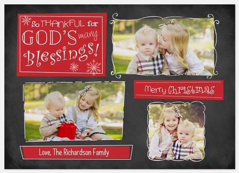 God's Blessings  Holiday Photo Cards