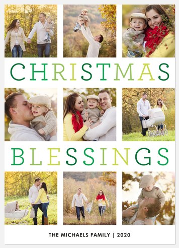 Count Your Blessings  Holiday Photo Cards