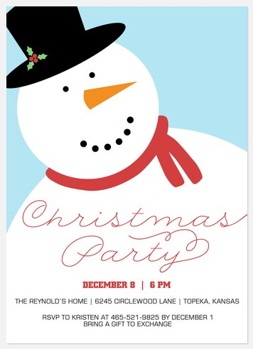 Frosty Party  Holiday Party Invitations