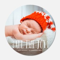 Baby Holiday Cards - Spread the Joy