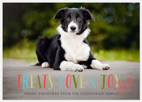 Treats, Love & Joy Holiday Photo Cards
