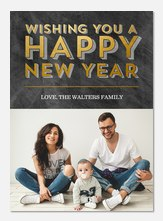 Glowing & Bright -  happy new years cards