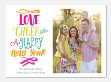 Playful Cheer - new years photo cards