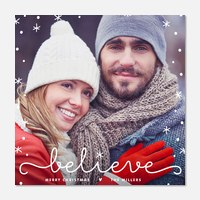 Newlywed Christmas Cards - Magical Snowflakes