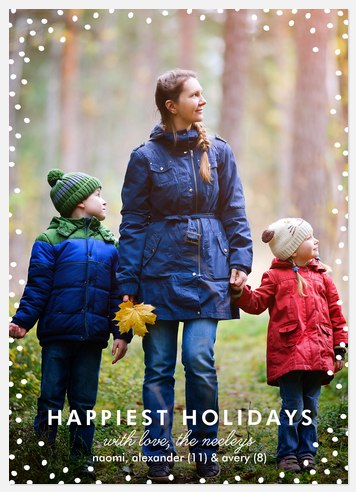Snowfilled Days Holiday Photo Cards