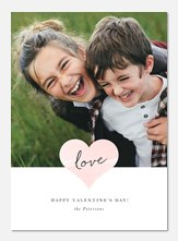 Watercolor Heart - Valentine Photo Cards