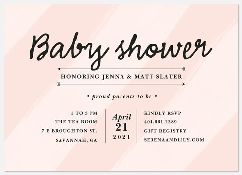 Watercolor Invite Baby Shower Invitations