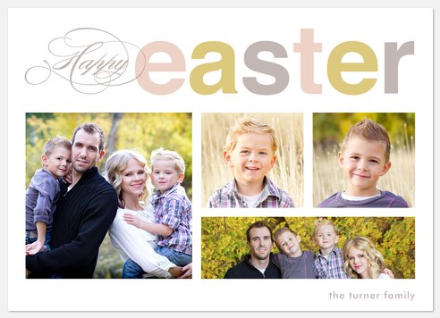 Spring Blessings  Easter Photo Cards