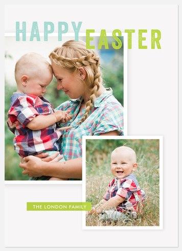 Vintage Spring Easter Photo Cards