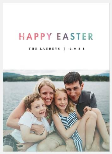 Watercolor Easter Easter Photo Cards