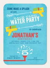 Photo Birthday Party Invitations - Make a Splash