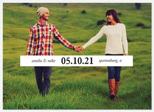 Modern Banner Save the Date Photo Cards