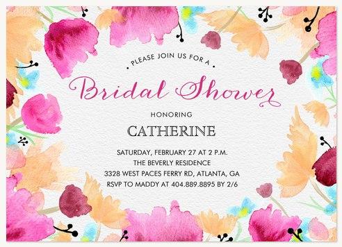 Floral Bouquet  Bridal Shower Invitations