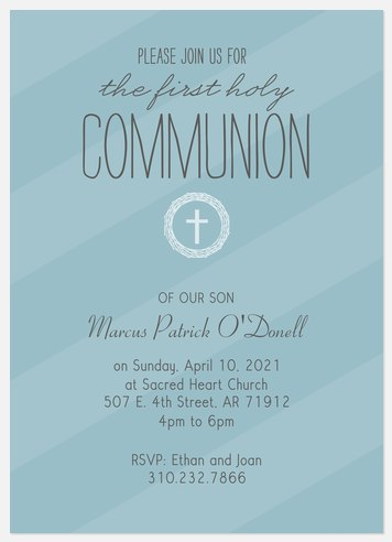 His Blessings First Communion Invitations