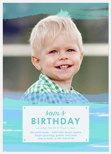 Brushed Delight Kids' Birthday Invitations