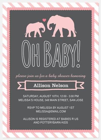 Mama & Baby Baby Shower Invitations