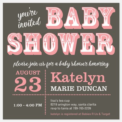 Stylish Saloon Baby Shower Invitations