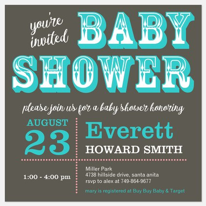 Stylish Saloon  Baby Shower Invitations