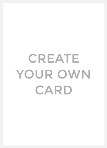 Create Your Own Create Your Own