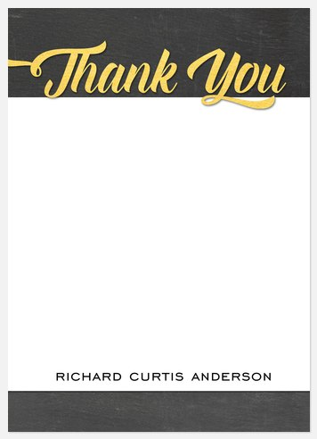 Charming Success Thank You Cards