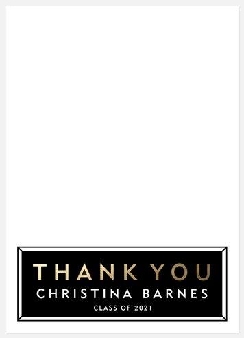 Luxe Scholar Thank You Cards