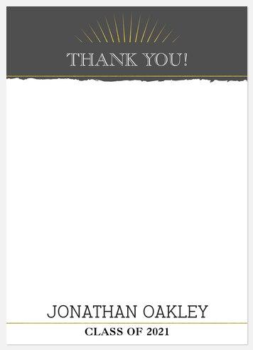 Academic Success Thank You Cards