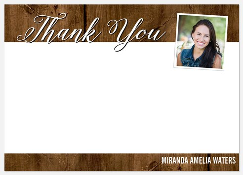 Rustic Elegance Thank You Cards