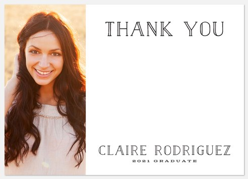 Clever Grad Thank You Cards