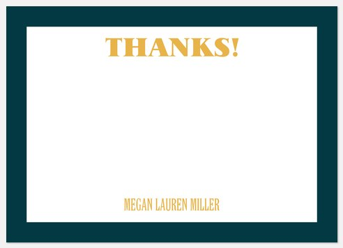 Academic Excellence Thank You Cards