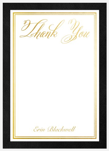 Ornate Scholar Thank You Cards