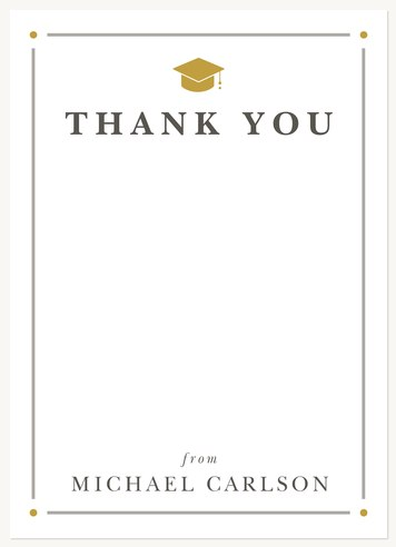 graduation thank you cards honored achievement