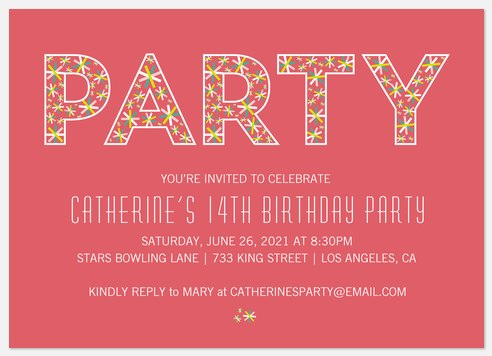 Lucky Daisies  Kids' Birthday Invitations