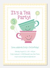 Cream & Sugar - Girl Birthday Invitations