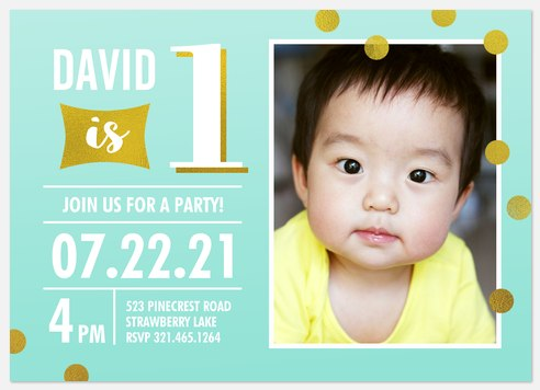 Shimmering Dots Kids' Birthday Invitations