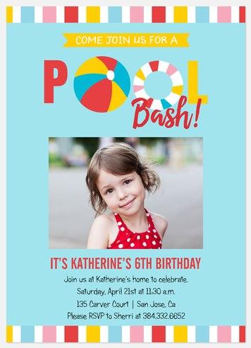 Splish Splash Kids' Birthday Invitations